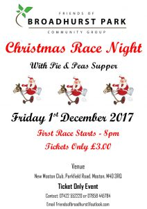 poster advertising Race Night