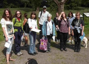 image of the wild flower identification attendees