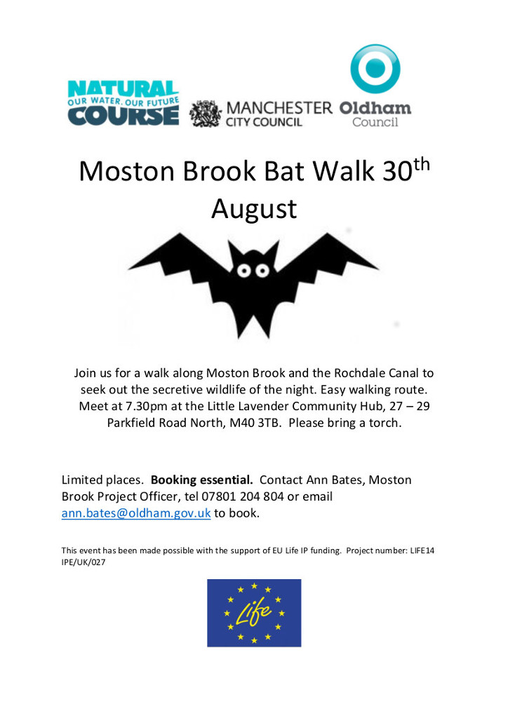 bat walk poster moston brook Aug 2018 image