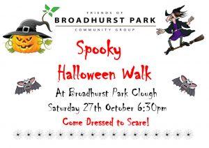poster advertising spooky bat walk